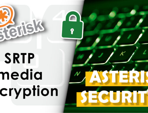 Secure connection with media encryption (SRTP)